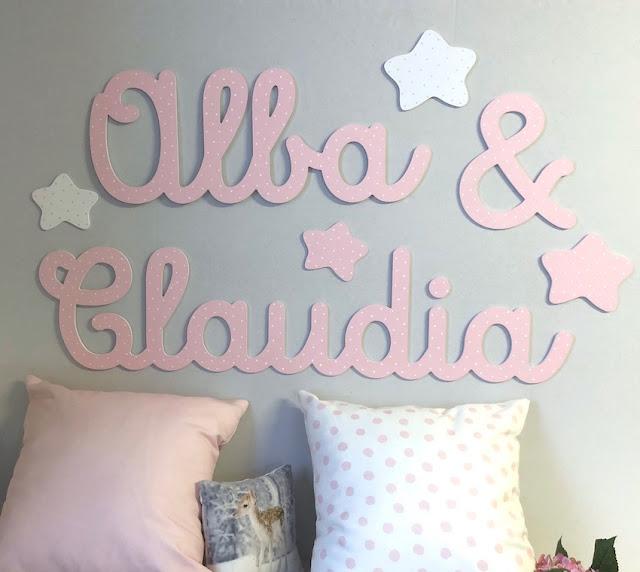 Letras para la pared : decoración infantil personalizada