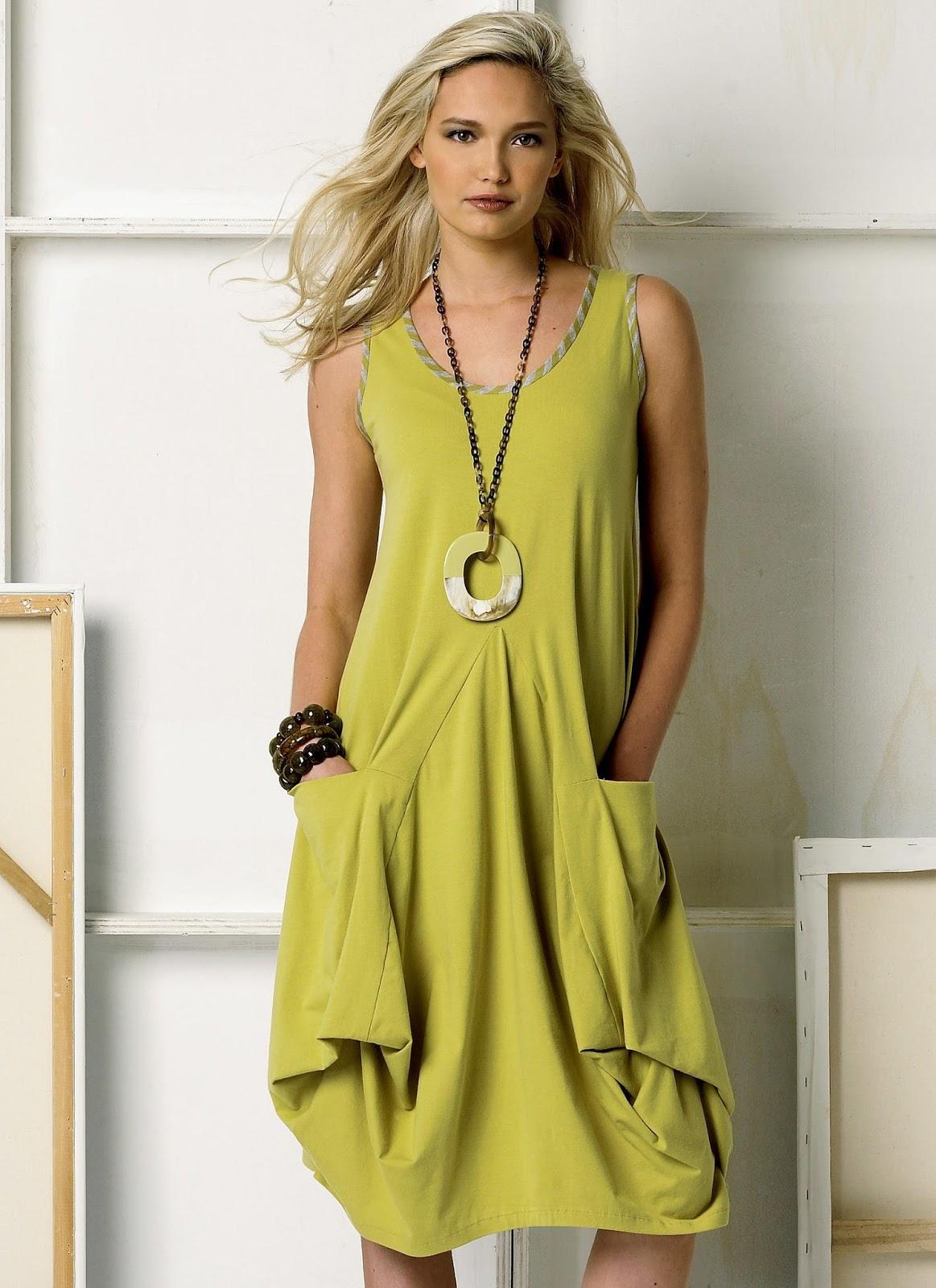 ef41ffd3f7e8ed Dederon: Lniana sukienka z kieszeniami.