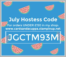 Hostess Code for your July Stampin' Up! Shopping is JGCTM93M