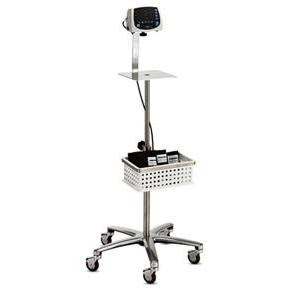 hospital rolling stand with basket