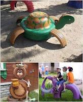 juegos para niños con neumaticos