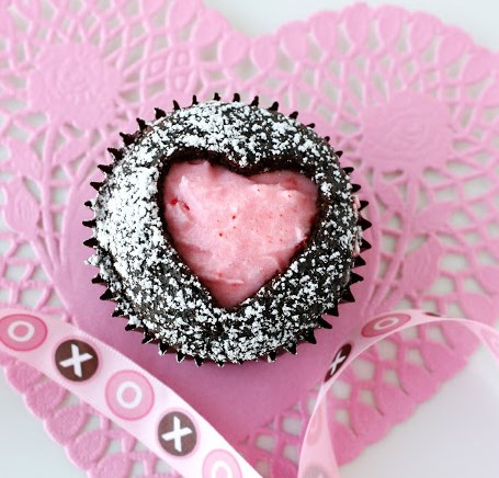 Sweet Heart Cupcakes #dessert #cakes