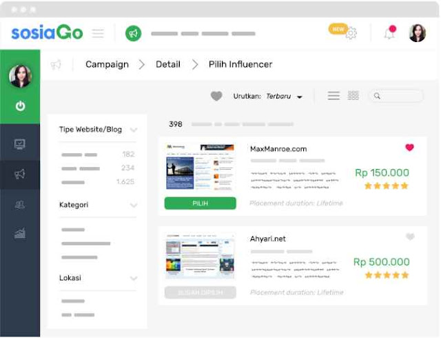 Fitur Channel Filtering Sosiago