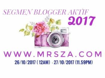 Segmen Blogger Aktif 2017 | MRSZACOM