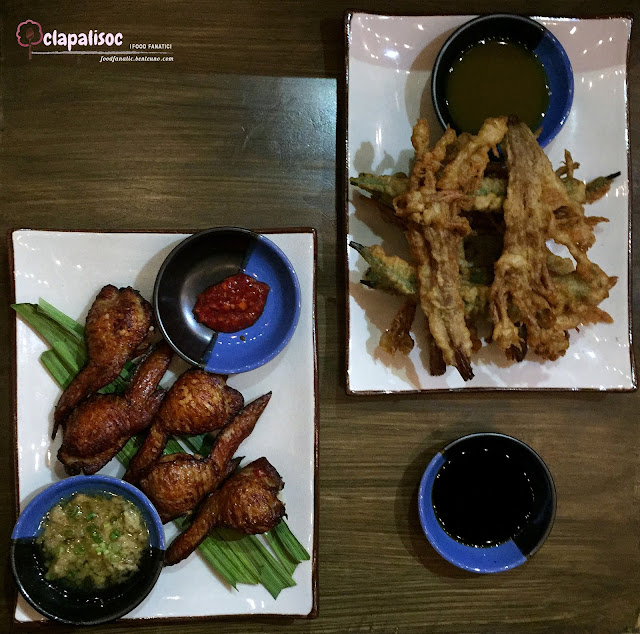 Mushroom & Okra Chips with Green Sriracha from Nomads Makati