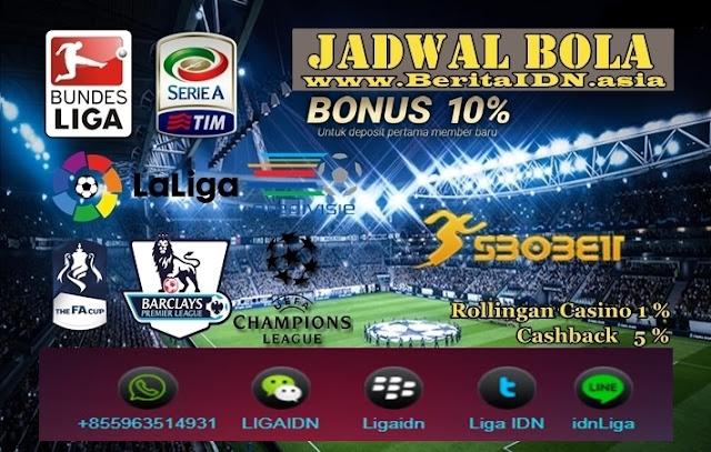 Jadwal Pertandingan Bola Tanggal 21 - 22 Maret 2019