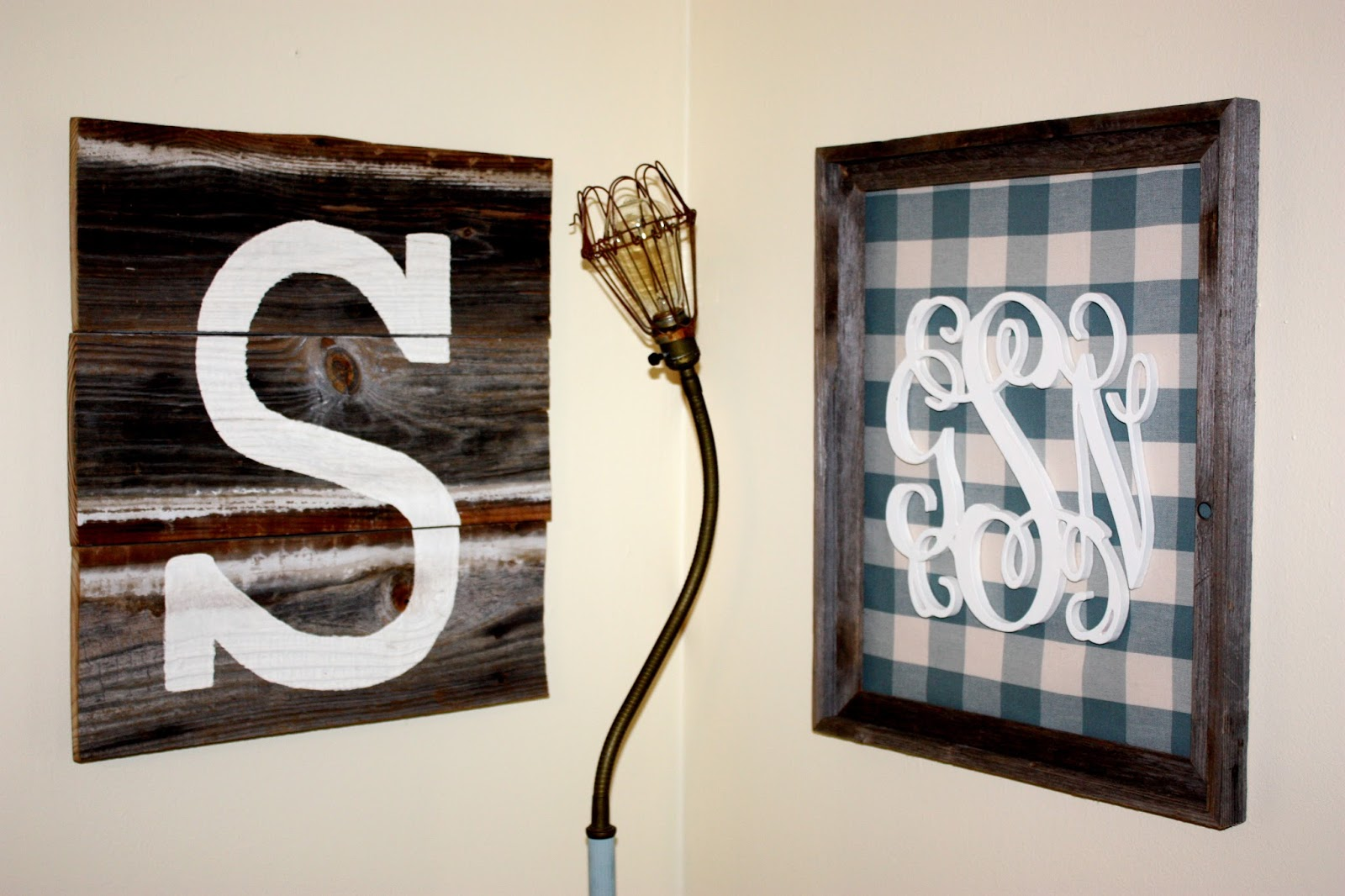Monogram Wall Decor How To Life In High Cotton