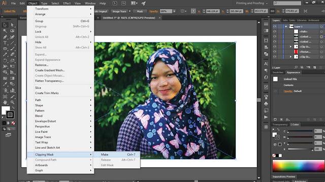 Teknik Cliping Mask Adobe Illustrator Lebih Cepat  Teknik Cliping Mask Adobe Illustrator Lebih Cepat ( Merubah Gambar Sesuai Pola )