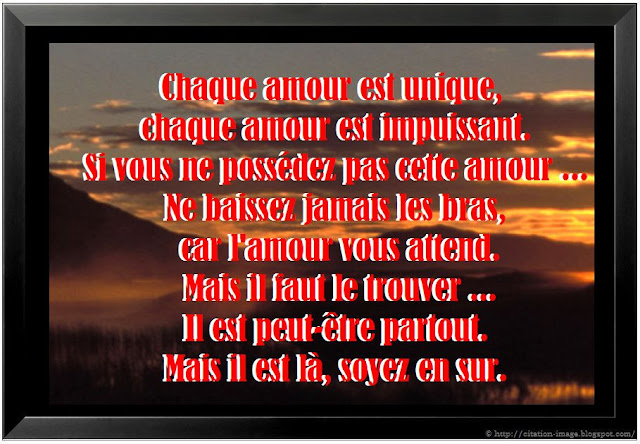 Magnifique citation d'amour en image ~ Citation en image : photo ...