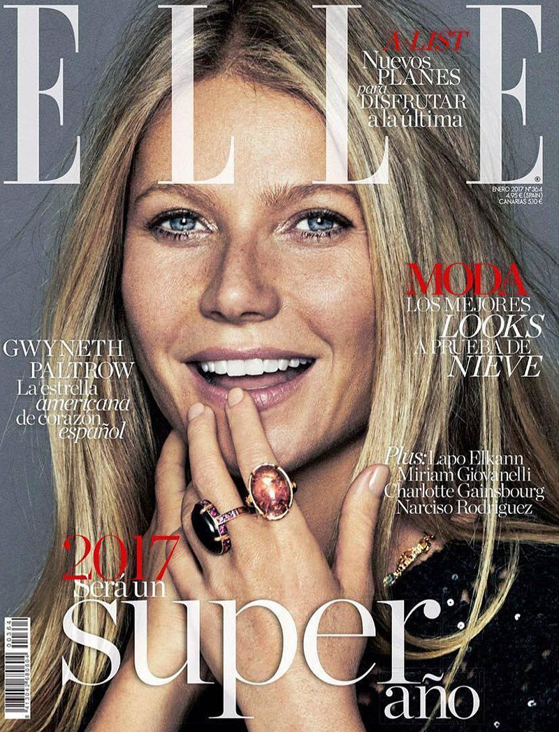Gwyneth Paltrow on January 2017 ELLE Spain cover by Xavi Gordo