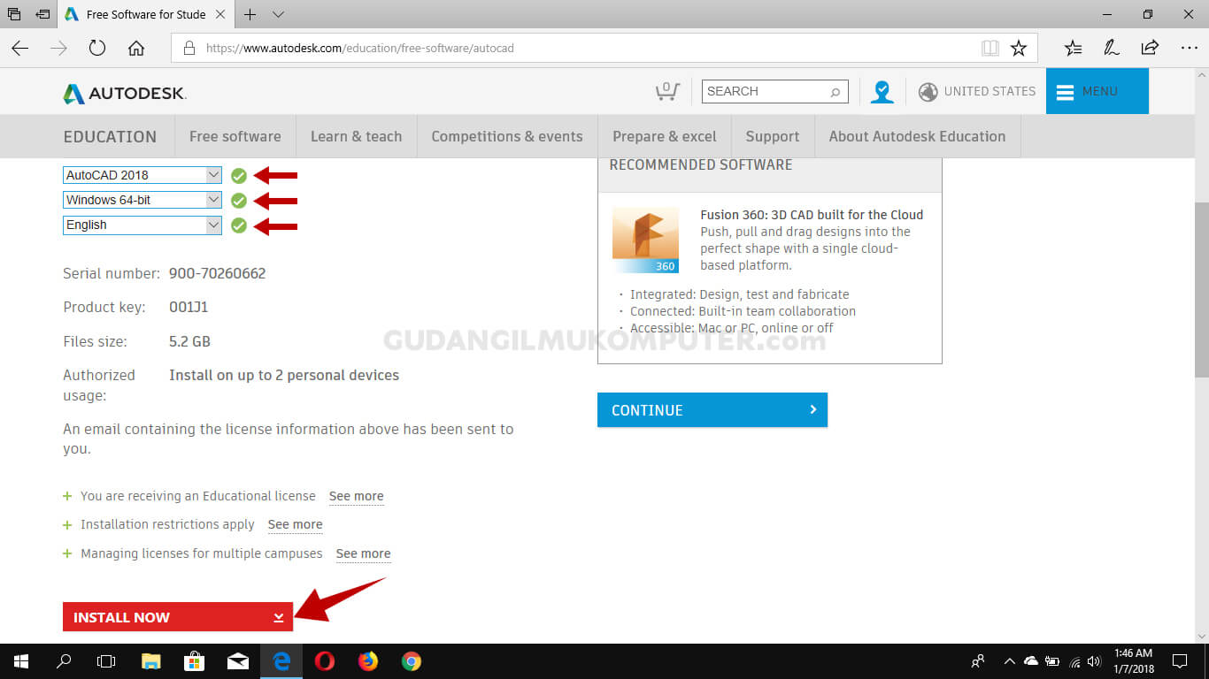 Cara Download dan Instal AutoCAD Education Original Secara Gratis