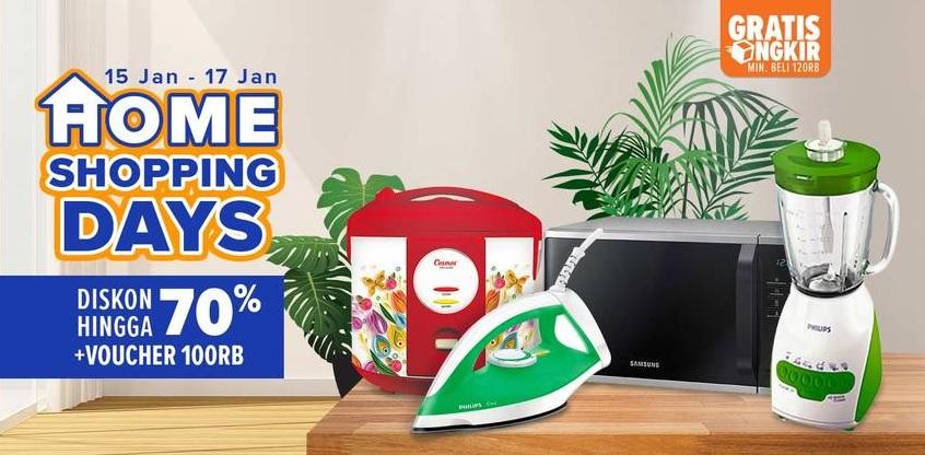 #Lazada - Promo Home Shopping Living Days Diskon s.d 70% + Voucher 100K