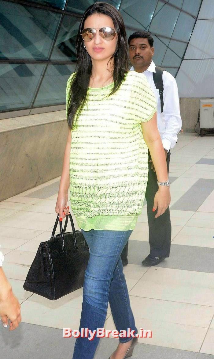 Anu Dewan, Bollywood Celebs at Airport to Attend Arpita Khan's Wedding