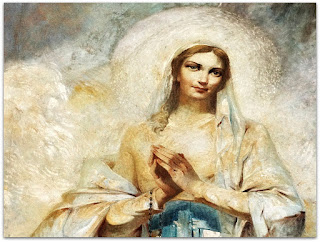"""Nossa Senhora de Lourdes - """"A Aparição da Virgem"""" - Aldo Locatelli (1960), Igreja de Nossa Senhora de Lourdes, Porto Alegre"""
