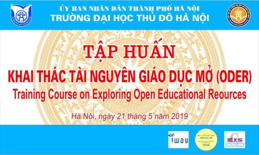 Tập huấn: Khai thác Tài nguyên Giáo dục Mở (OER) tại Trường Đại học Thủ đô Hà Nội - Đợt 2