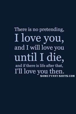 there is no pretending i love you