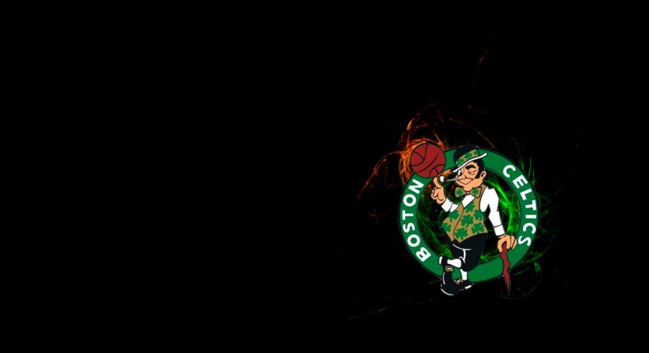 NBA Boston Celtics Logo Black wallpaper 2018 in Basketball