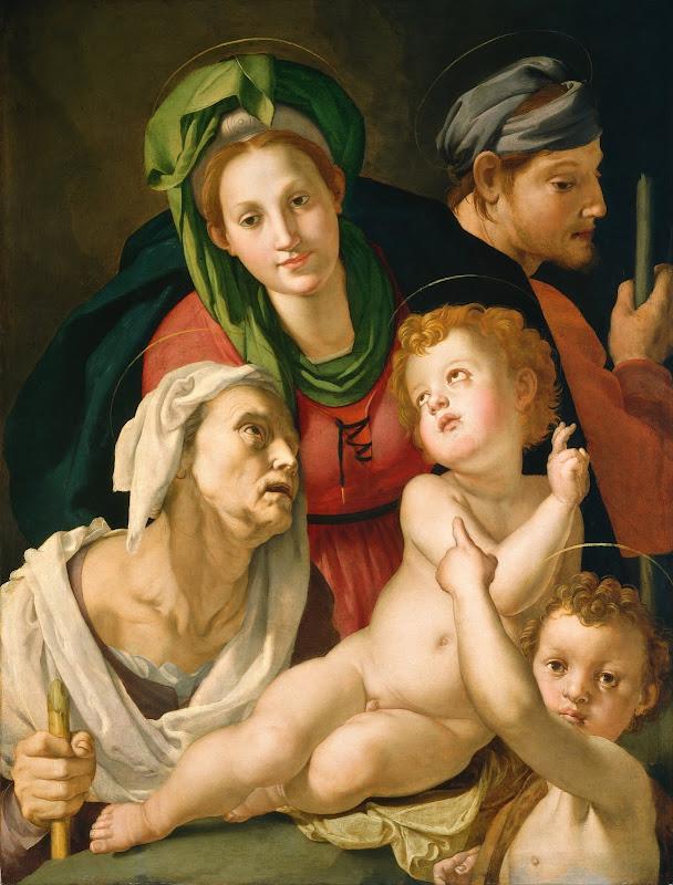 Agnolo Bronzino - The Holy Family (c.1527)