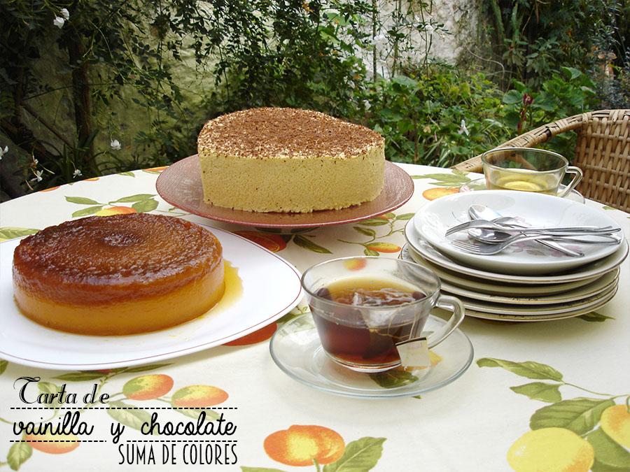 Tarta de vainilla y chocolate 01