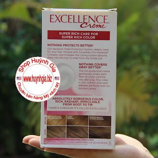 Công dụng thuốc nhuộm tóc L'Oreal Excellence Creme 6A mỹ phẩm xách tay www.huynhgia.biz