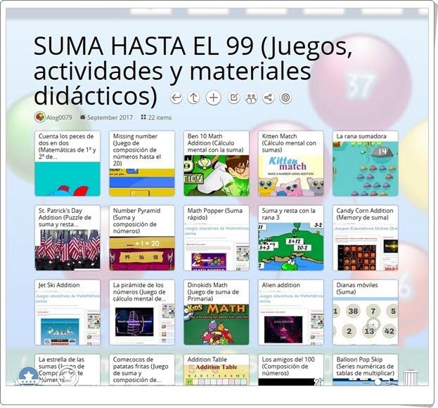 """""""23 Juegos, actividades y materiales sobre LA SUMA HASTA EL 99 en 2º de Primaria"""""""