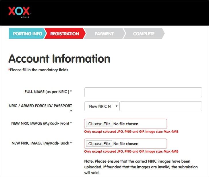 Maklumat pendaftaran simkad ONEXOX