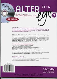 Télécharger Alter ego 5 pdf Niveau C1 / C2 méthode de français + CD audio