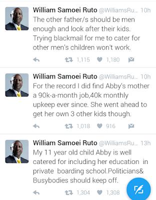 Ruto responds to Presca Chemutai Bett claims