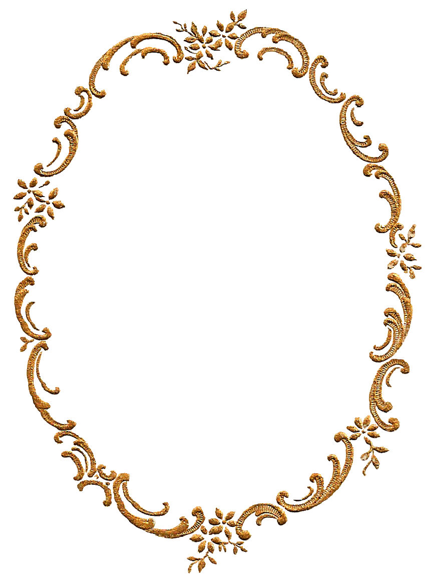 Antique Images: Free Frame Border Digital Download Gold Fancy Floral