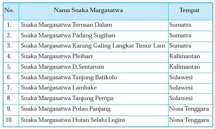 Definisi, Ciri Ciri, Tempat Tempat, Hutan Cagar Alam, Suaka Margasatwa, Taman Nasional, Taman ...