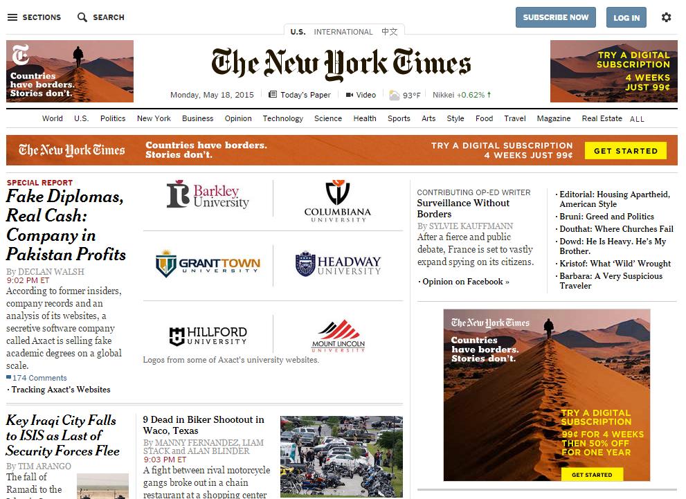 紐約時報力圖轉型,付費、影音、行動策略樣樣來|數位時代