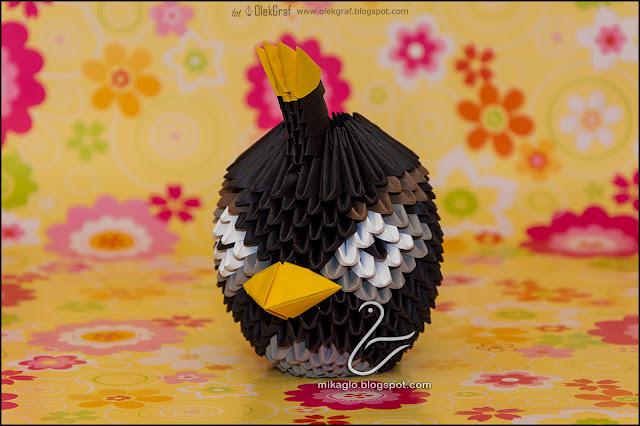 413. Angry Birds Bomba / 3d origami Black Angry Birds