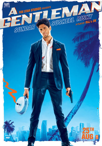 A Gentleman new upcoming movie first look, Poster of Sidharth Malhotra, Jacqueline Fernandez, Suniel Shetty download first look Poster, release date