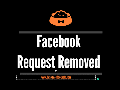 Facebook Request Removed