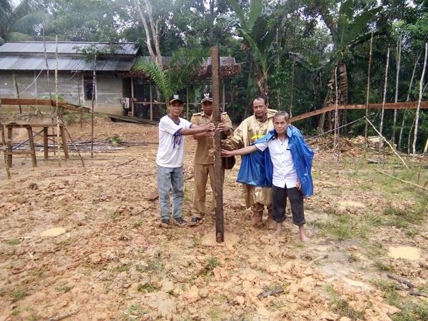 Landau Kodah Bangun Rumah Betang Nibung Seribu di Tahun 2018