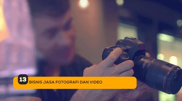 13. Bisnis Jasa Fotografi dan Video