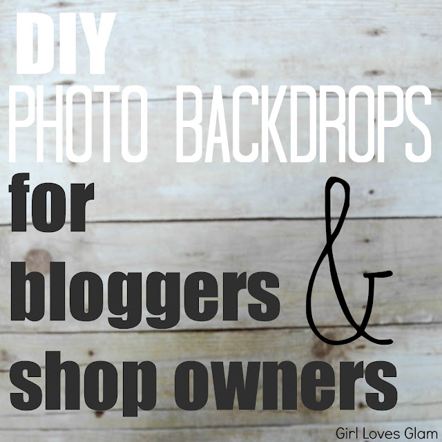 DIY Photo Backdrops for bloggers and shop owners