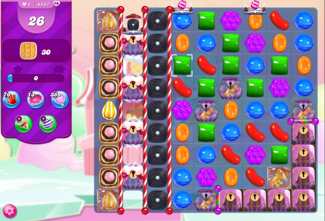 Candy Crush Saga level 4567
