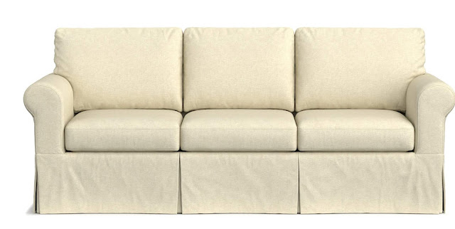 oatmeal linen slip cover couch