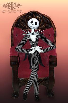 ADdoll_Jack_Джек_Скеллингтон авторская текстильная шарнирная кукла Алёны Дороховой