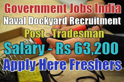 Naval Dockyard Recruitment 2018
