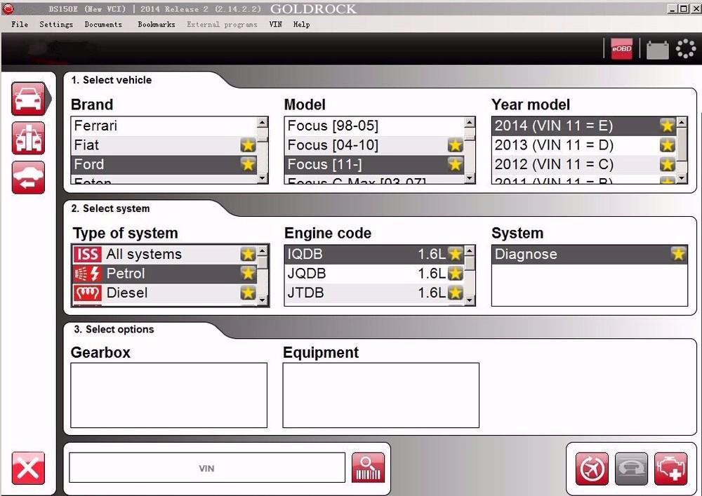 delphi ds150e obd obd 2 obdii diagnostic scanner tool: delphi ds150e