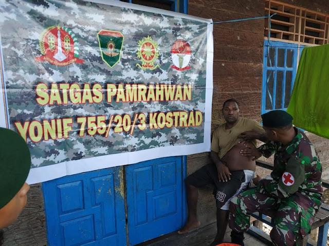 Satgas Yonif 755 Kostrad Berikan Pelayanan Kesehatan Door To Door