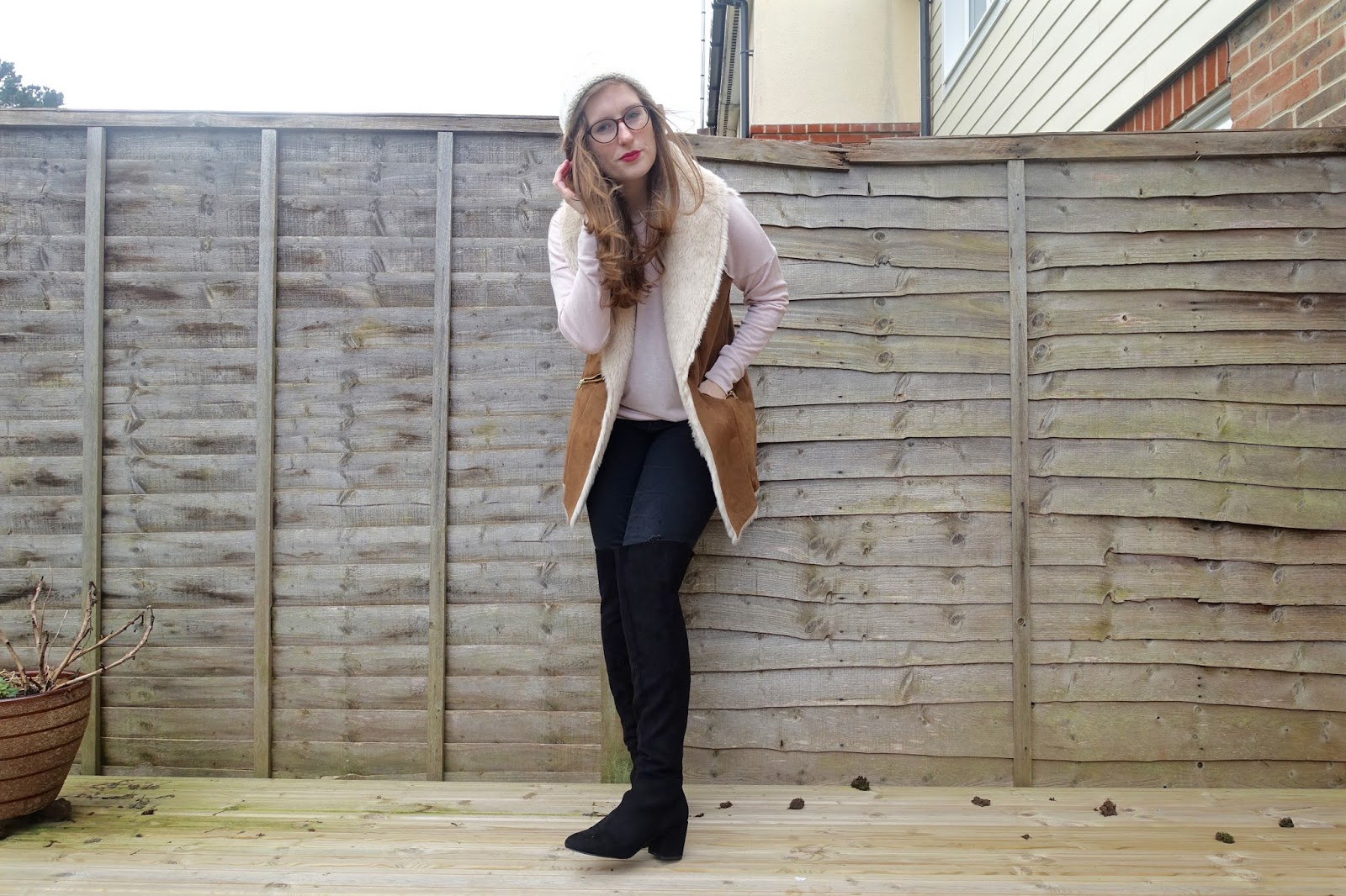 faux fur gilet f&f clothing