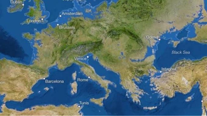 Τρομακτικό σενάριο: Ο χάρτης που δείχνει ότι η κλιματική αλλαγή θα εξαφανίσει τις Κυκλάδες