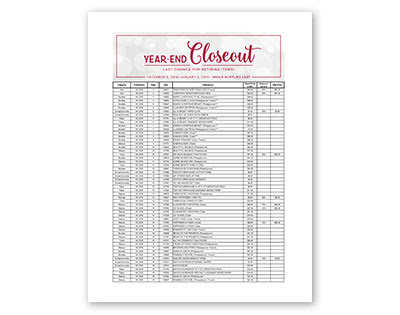Year End Last Chance List