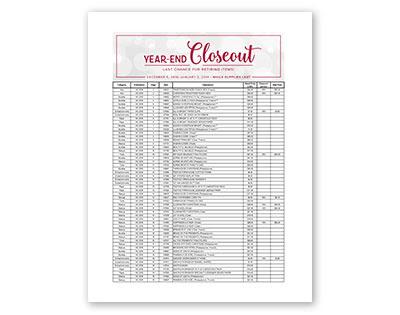 Year End Last Chance List