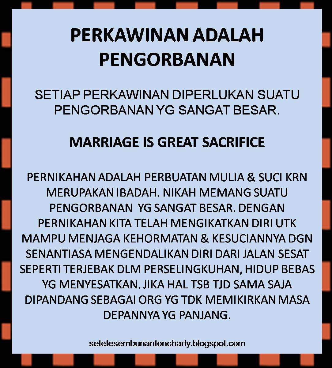 Setetes Embun Anton Charlian 98 Perkawinan Adalah Pengorbanan - Perkawinan Adalah, Pentingnya Pencatatan Perkawinan Menurut Undang
