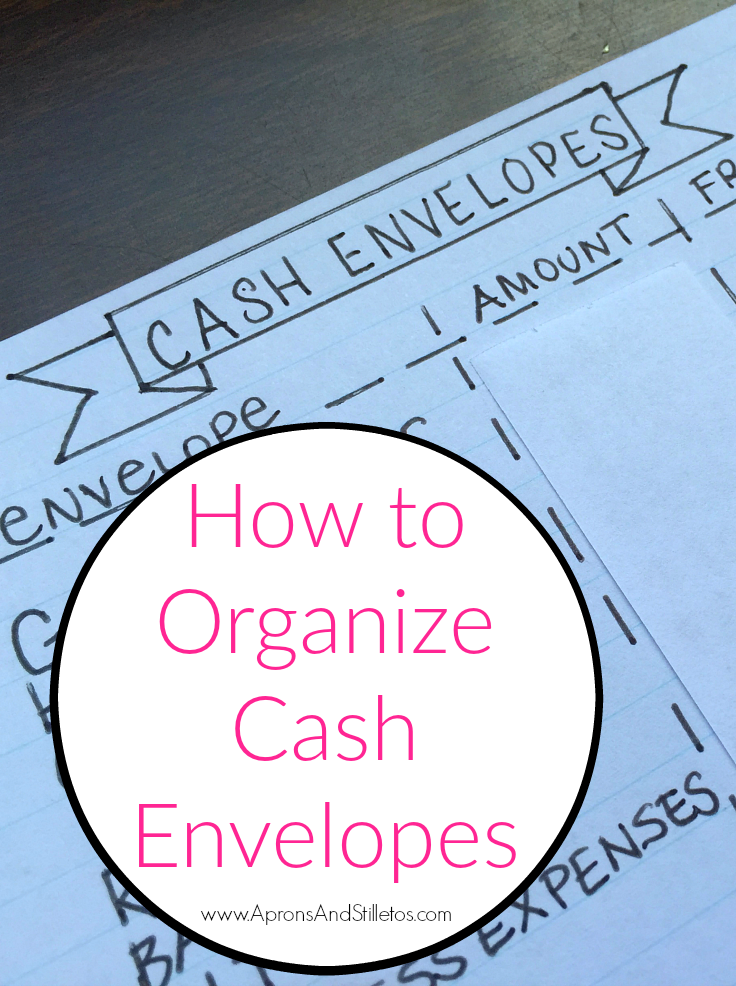 How to Organize Cash Envelopes using Dave Ramsey's Financial Peace University