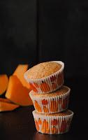 Muffins de calabaza con harina de arroz y de espelta